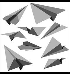 Set of paper planes vector
