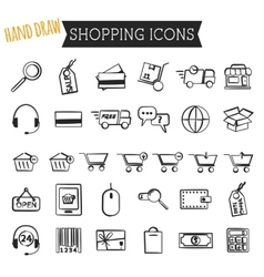 set on-line shopping icons isolated on white vector image
