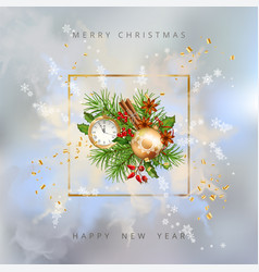 shining christmas background vector image