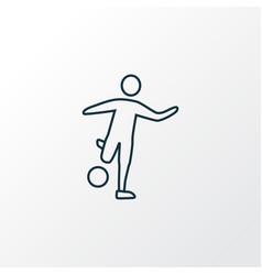 sport icon line symbol premium quality isolated vector image