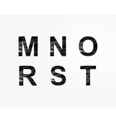 Stylized font vector