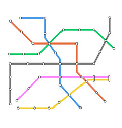 Subway omnichannel metro map omni channel tube vector