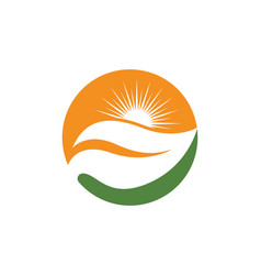 Sun logo icon vector