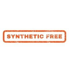 Synthetic Free Rubber Stamp vector image