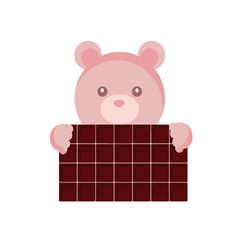 teddy with chocolate vector image