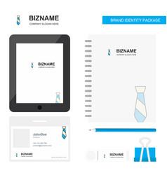 Tie business logo tab app diary pvc employee card vector