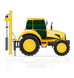tractor 06 vector image