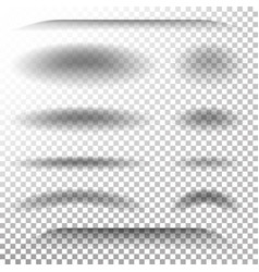 Transparent soft shadow realistic oval vector
