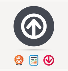 upload icon load internet data sign vector image vector image