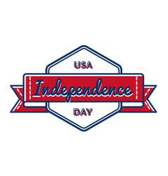 usa independence day greeting emblem vector image