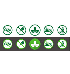 Vegan icon set vector