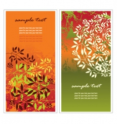 Vertical autumn banners vector