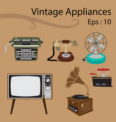 Vintage appliances vector