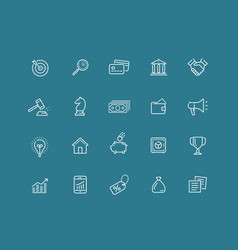 web icons set elements for website presentation vector image