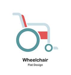 Wheelchair flat vector