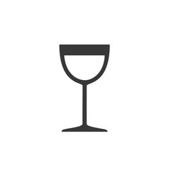 wine glass isolated icon drink vector image