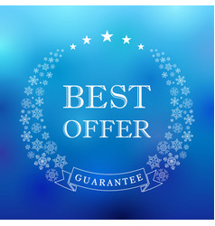 Winter best offer vector