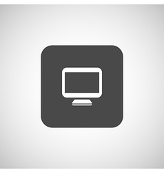 Computer display isolated icon screen monitor vector image