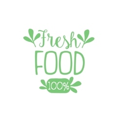 Fresh calligraphic cafe board vector