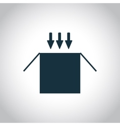 Opened cardboard package box icon vector image
