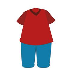 sport wear clothes icon vector image