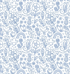 Summertime blue seamless pattern vector image vector image
