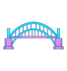 Sydney Harbour bridge icon cartoon style vector image vector image