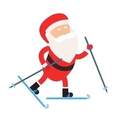 Cartoon Santa winter sport vector image vector image
