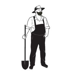 Farmer with shovel vector image