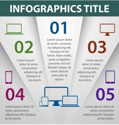 Graph design infographics template vector image vector image