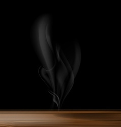 gray smoke on a black background vector image vector image