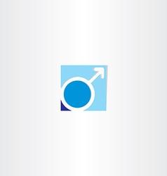 male gender symbol blue icon vector image vector image