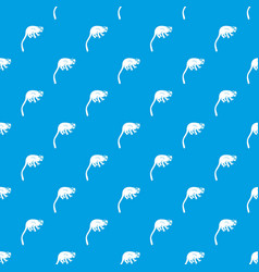 Marmoset monkey pattern seamless blue vector