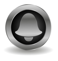 Metallic bell button vector image