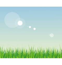seamless grass with sky vector image