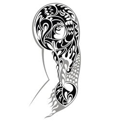 Tribal Arm Tattoo vector image