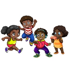 African American boys and girls vector image