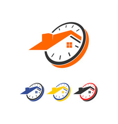 home time logo vector image