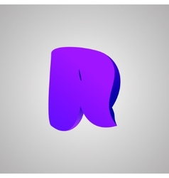 Letter r comic style font eps10 vector