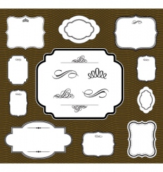matching frame set vector image