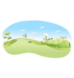 Rolling landscape vector image vector image