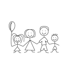 cartoon comic family vector image vector image