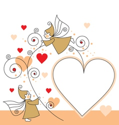 elves and hearts vector image vector image