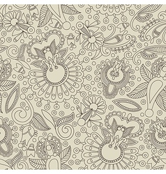 hand draw ornate floral seamless pattern vector image