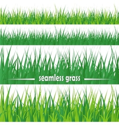 Set of seamless grass vector image