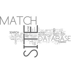 What is site match text word cloud concept vector