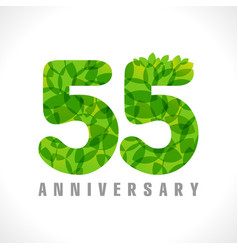 55 leaves transparent vector image