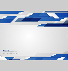 abstract of futuristic gradient blue stripe line vector image