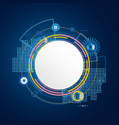 abstract technology circle blue background vector image