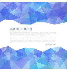 abstract triangular banner vector image